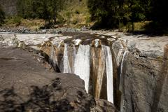The Trois Roches Waterfall - stock photo