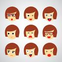 Stock Illustration of face emotion