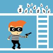 steal vector cartoon - stock illustration