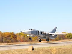 Military jet bomber Stock Photos