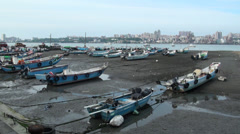 Danshui river harbour. New Taipei Stock Footage