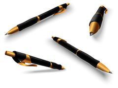 Pen Multiple views - stock illustration