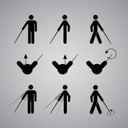 Blind man symbol Stock Illustration