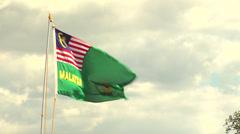 Malasia flag waving Stock Footage