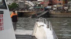 Danshui river harbour. New Taipei Stock Footage