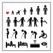human life symbol - stock illustration