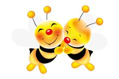 hug of bees - stock illustration - stock illustration