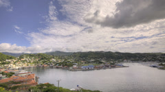 St Georges Bay in Grenada HDR Stock Footage