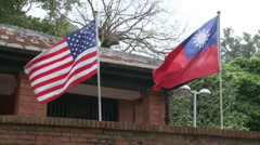 Diferent flags the world in the Fort San Domingo Stock Footage