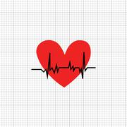 The heart rate symbol Stock Illustration