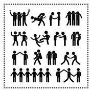 Stock Illustration of friendship symbol