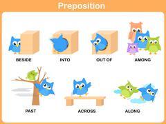 cartoon words for preschool - stock illustration