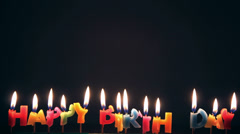 Bruning happy birthday candle Stock Footage