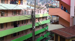 0720  Characteristic streets of the hills of Valparaiso Stock Footage