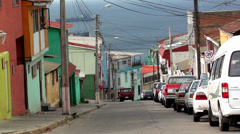 0718 Characteristic streets of the hills of Valparaiso Stock Footage