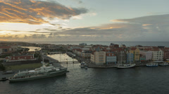 Time lapse Curacao Willemstad Promenade Stock Footage