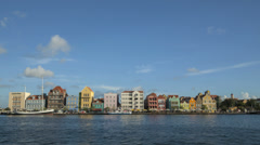 Stock Video Footage of Time lapse Curacao Willemstad Promenade