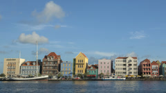 Time lapse Curacao Willemstad Promenade - stock footage