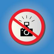 Stock Illustration of no photography allowed