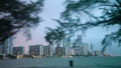 Miami downtown at dusk - stock footage
