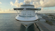 Stock Video Footage of Time lapse Cruiseship leaving harbor Aruba