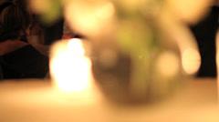Elegant votive and flower vase Stock Footage