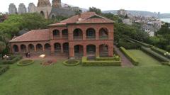 Santo Domingo castle in Danshui Stock Footage