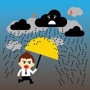 Storm vector cartoon Stock Illustration