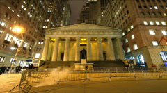 Federal reserve  NYC time lapse Stock Footage