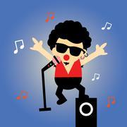 Stock Illustration of Singer vector cartoon