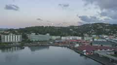 Timelapse leaving Port St Lucia Castries Stock Footage