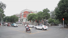 Traffic of Tianjin tourism area , china. Stock Footage