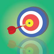 Stock Illustration of darts target aim