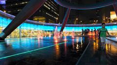 Asia Singapore Suntec City Fountain of Wealth Stock Footage