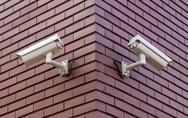 Stock Photo of security cameras
