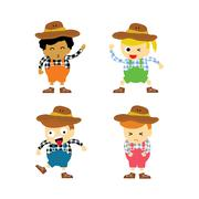 Cowboy vector cartoon Stock Illustration
