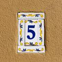 Stock Photo of decorated house number