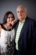 East indian father and daughter Stock Photos