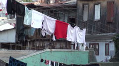 0724 Hanging clothes Stock Footage