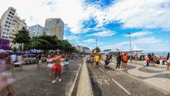 City Pedestrian Traffic Time Lapse Rio Stock Footage