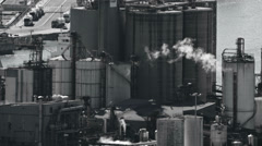 Industrial zone barcelona zoom Stock Footage