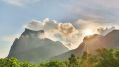 Clouds Time Lapse Rio Mirante da Gavea Stock Footage