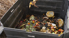 Compost bin slow motion Stock Footage