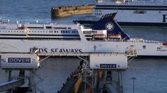 Dover Harbour, Kent , England, United Kingdom Stock Footage