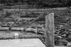 ruins of small epidavros theater - stock photo