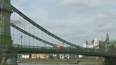 Hammersmith Bridge zoom out 4K Stock Footage