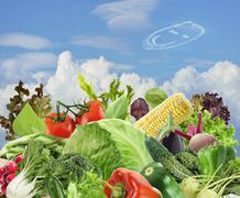 Healthy vegetarian food Stock Photos