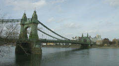 Hammersmith Bridge in London 4K time lapse Stock Footage