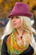 Stock Photo of woman with a beautiful headdress