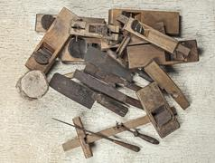 Antique carpenter tool (still life) Stock Photos